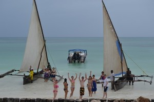 UK fam trip -dhow racing At Bluebay Zanzibar